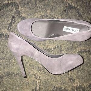 Steve Madden grey heels